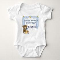 Twinkle Star Bear - Blue Baby Bodysuit