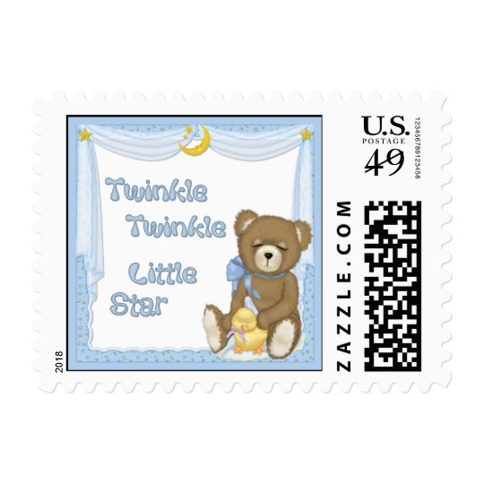 Twinkle Star Bear - Blue Postage
