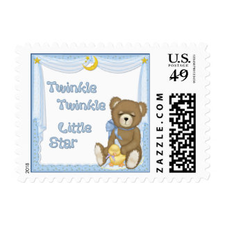 Twinkle Star Bear - Blue Stamps