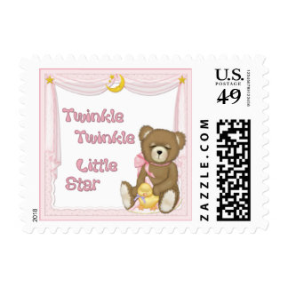 Twinkle Star Bear - Pink Stamps