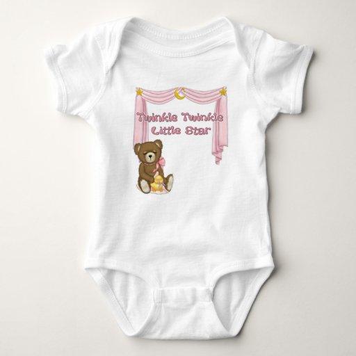 Twinkle Star Bear - Pink Tshirt