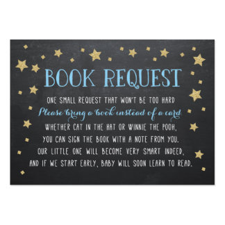 Twinkle Star Book Request, Nursery Rhyme Large Business Card