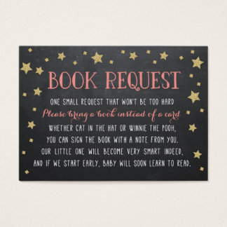 Twinkle Star Book Request, Pink, Nursery Rhyme Business Card