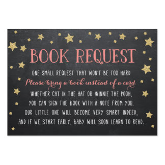 Twinkle Star Book Request, Pink, Nursery Rhyme Large Business Card