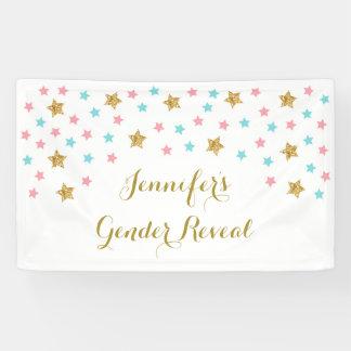 Twinkle Star Gender Reveal Banner