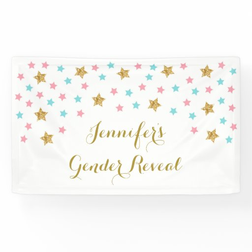 Twinkle Star Gender Reveal Banner