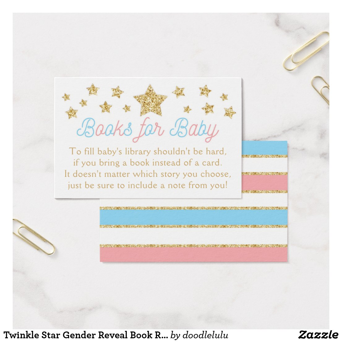 Twinkle Star Gender Reveal Book Request