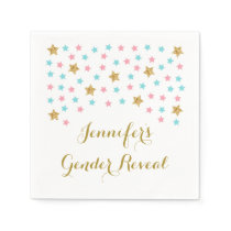Twinkle Star Gender Reveal Napkin