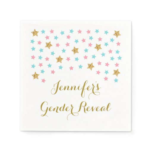 Twinkle Star Gender Reveal Napkins