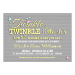 Twinkle Star Gender Reveal Party Invitation Invites