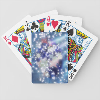 Twinkle stars lights bicycle playing cards