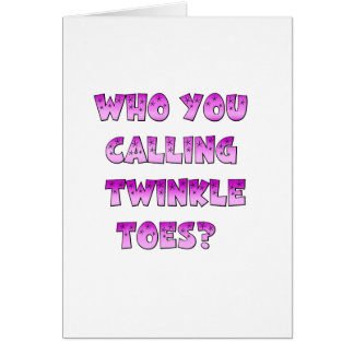 Twinkle Toes Card
