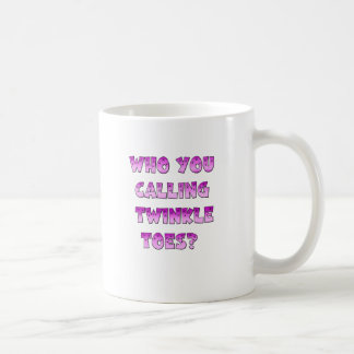 Twinkle Toes Classic White Coffee Mug