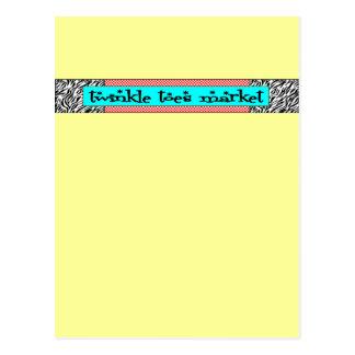 Twinkle Toes Market Logo Postcard