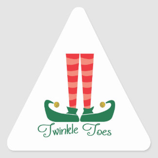 Twinkle Toes Triangle Sticker
