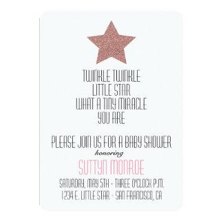 "TWINKLE TWINKLE BABY SHOWER INVITATION 5"" X 7"" INVITATION CARD"