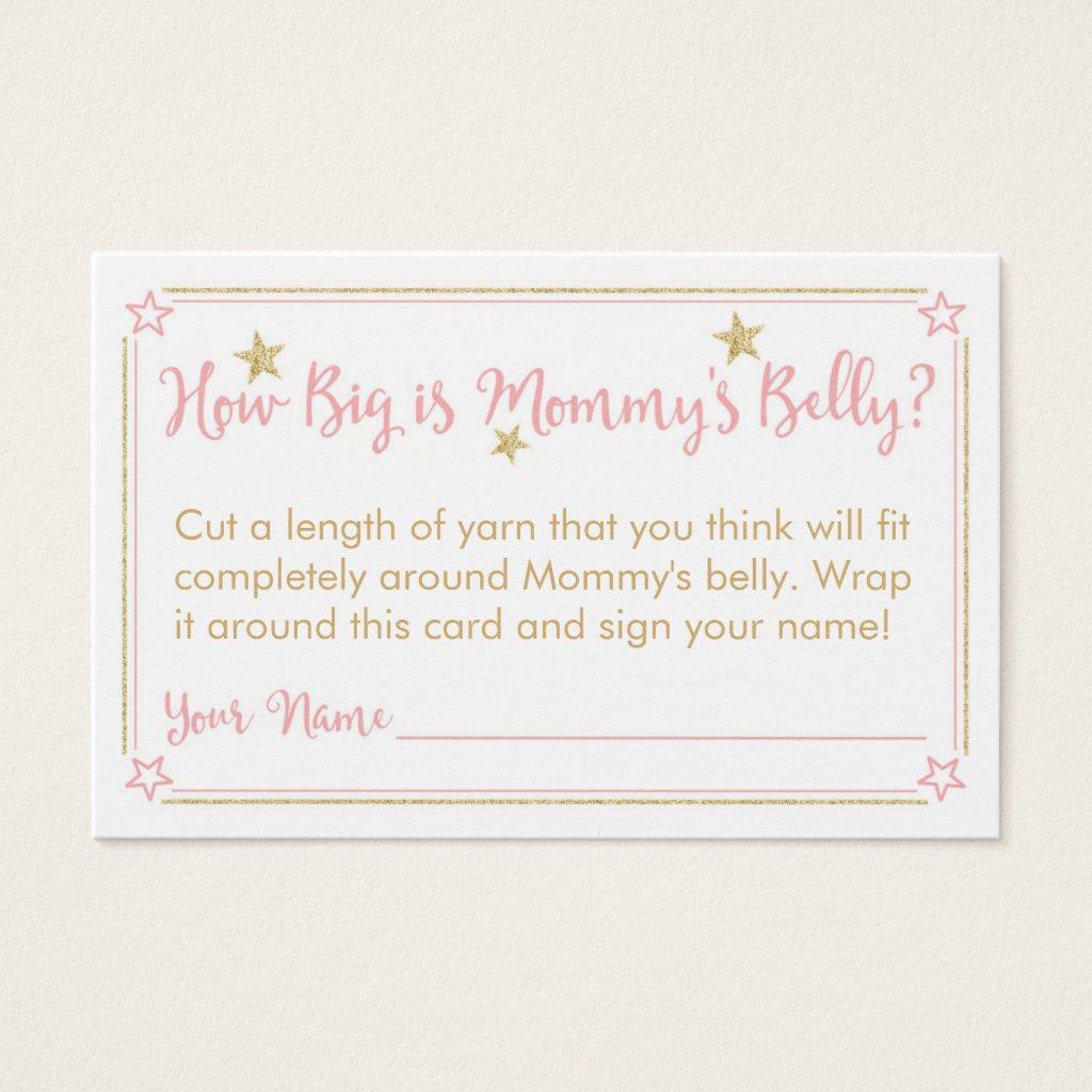 Twinkle Twinkle Baby Shower Mommy's Belly Card