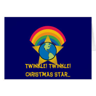 Twinkle Twinkle Christmas Star...-Customize Greeting Card