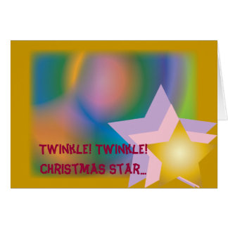 Twinkle Twinkle Christmas Star...Customize Greeting Card
