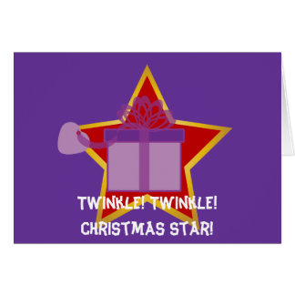 Twinkle Twinkle Christmas Star...-Customize Stationery Note Card