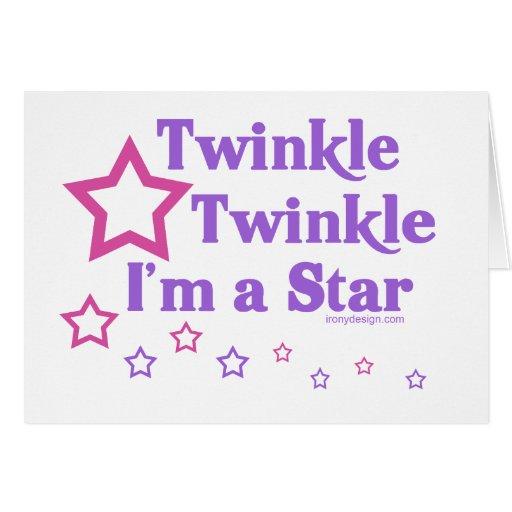 Twinkle Twinkle I'm a Star Greeting Card