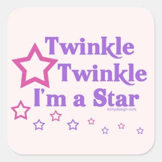 Twinkle Twinkle I'm a Star Square Sticker
