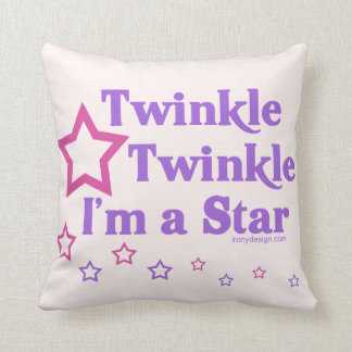 Twinkle Twinkle I'm a Star Throw Pillow