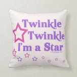 Twinkle Twinkle I'm a Star Throw Pillows