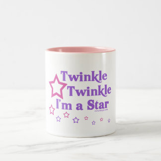 Twinkle Twinkle I'm a Star Two-Tone Coffee Mug