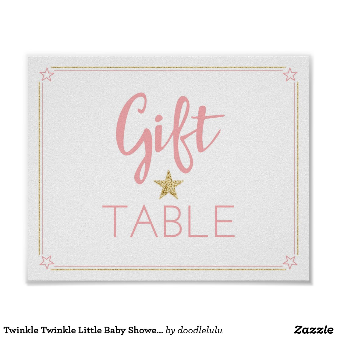 Twinkle Twinkle Little Baby Shower Gift Table sign