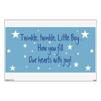 Twinkle twinkle little boy star Wall Decal