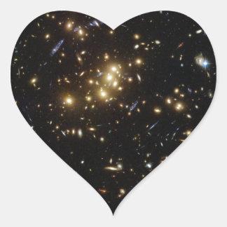 Twinkle Twinkle Little... Lots of Galaxies Heart Sticker