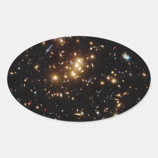 Twinkle Twinkle Little... Lots of Galaxies Oval Sticker