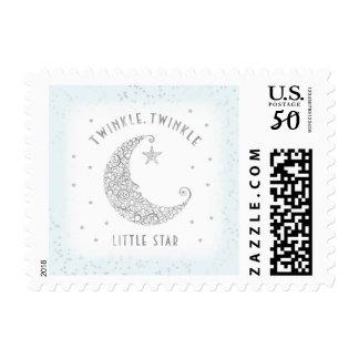 Twinkle Twinkle Little Star Baby Blue Silver Postage