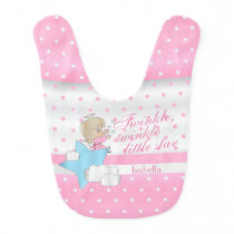Twinkle, Twinkle Little Star - Baby Girl Bib
