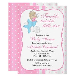 Twinkle, Twinkle Little Star -  Baby Girl Card