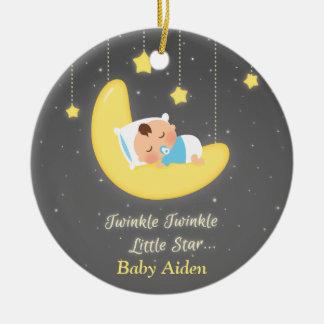 Twinkle Twinkle Little Star Baby Nursery Decor Ceramic Ornament