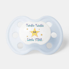 Twinkle Twinkle Little Star Baby Pacifier at Zazzle