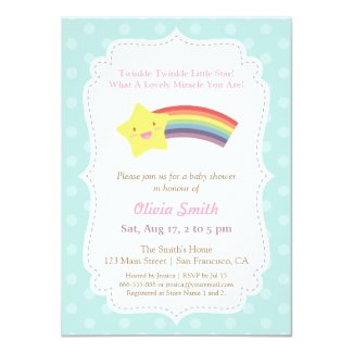 Twinkle Twinkle Little Star Baby Shower Card