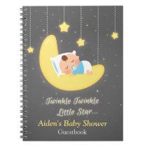 Twinkle Twinkle Little Star Baby Shower Guestbook Notebook