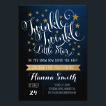 "Twinkle Twinkle Little Star Baby Shower Invitation<br><div class=""desc"">Impress guests with the trendy &quot;twinkle,  twinkle little star&quot; invitation.</div>"