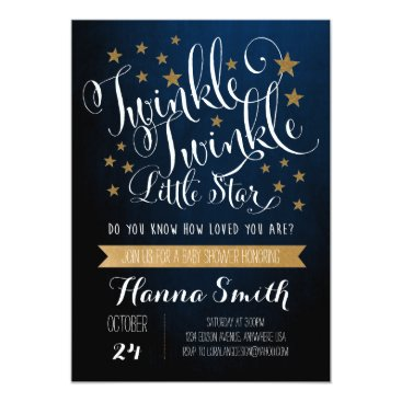 loralangdesign Twinkle Twinkle Little Star Baby Shower Invitation