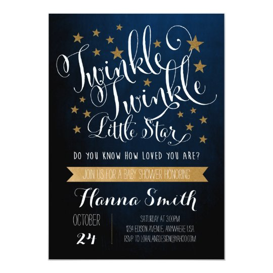 twinkle twinkle little star baby shower invitation zazzle com