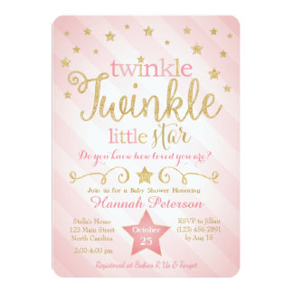 Twinkle Twinkle Little Star Invitations Announcements Zazzle