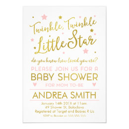 Nursery rhyme baby shower invitations announcements zazzle twinkle twinkle little star baby shower invitation filmwisefo Images
