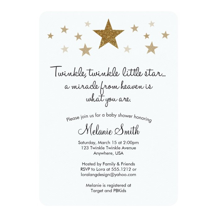 twinkle twinkle little star baby shower invitation zazzle
