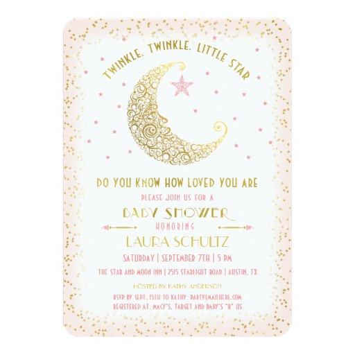 Twinkle Twinkle Little Star Baby Shower Invitations with best invitation template