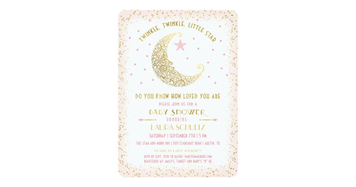 Twinkle Twinkle Little Star Baby Shower Invitation | Zazzle.com