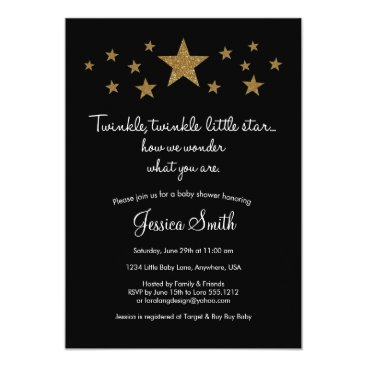 USA Themed Twinkle Twinkle Little Star Baby Shower Invitation