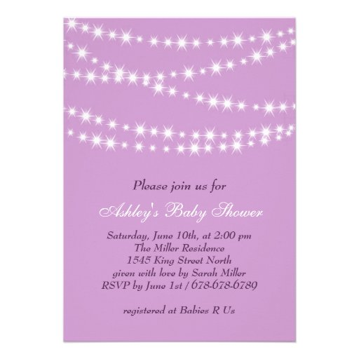 twinkle twinkle little star baby shower invitation 5 x 7 invitati